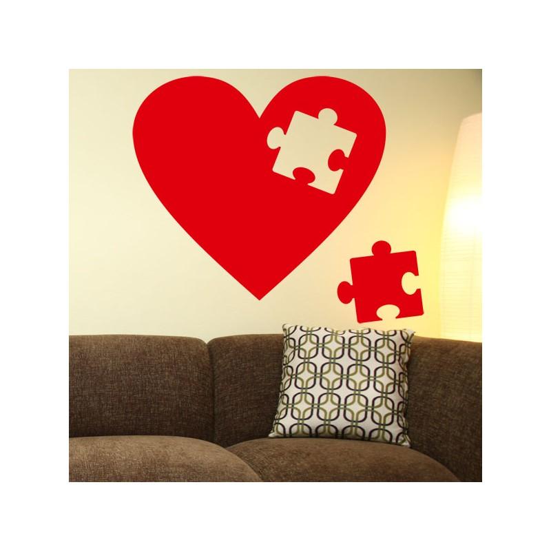 Vinilo coraz n puzzle un vinilo de amor - Puzzles decorativos ...