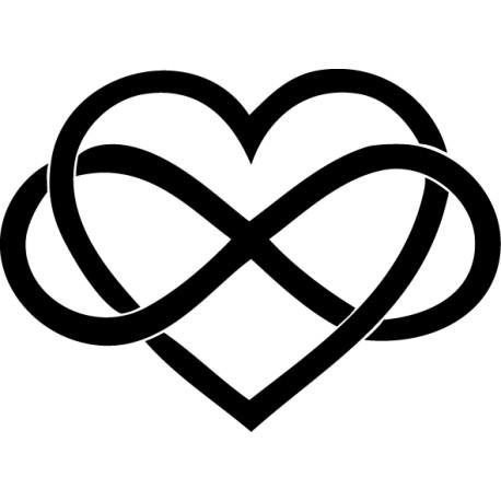Vinilo corazón infinito