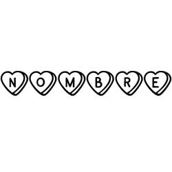 Vinilo texto San Valentín personalizado