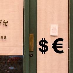 Pegatina signo dolar