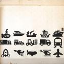 Stickers infantiles transporte
