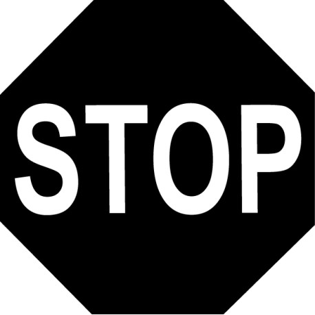 Vinilo decorativo STOP
