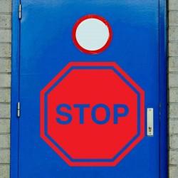Vinilo señal Stop