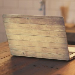 Pegatina portátil tablas madera