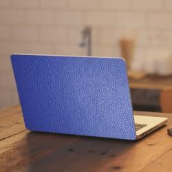 Adhesivo portátil cuero azul