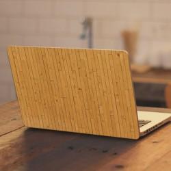 Vinilo portátil listones madera