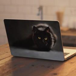 Vinilo portátil gato negro