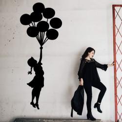 Vinilo Banksy niña globos