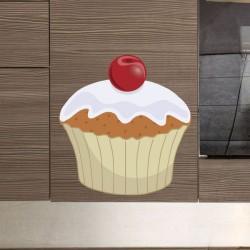 Vinilo cupcake cereza