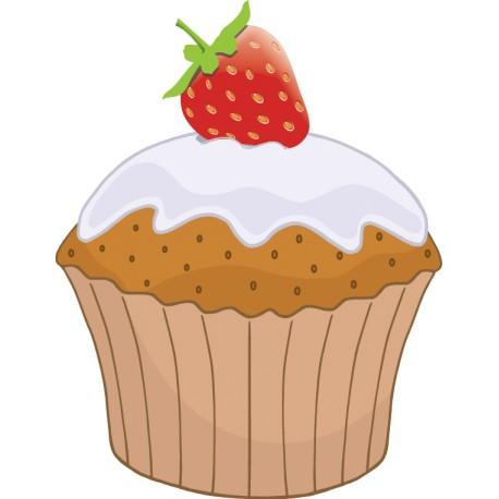 Adhesivo cupcake fresa