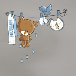 Vinilo oso tendedero personalizado