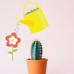 Vinilo regadera flor