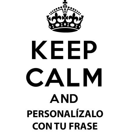 Adhesivo keep calm personalizado