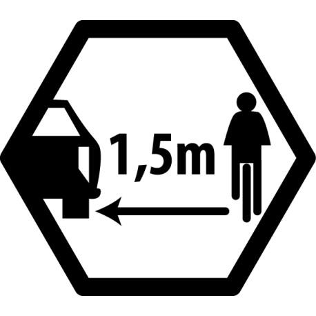 Pegatina distanca bici