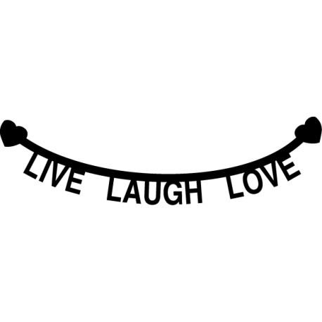 Vinilo cabecero Live Laugh Love