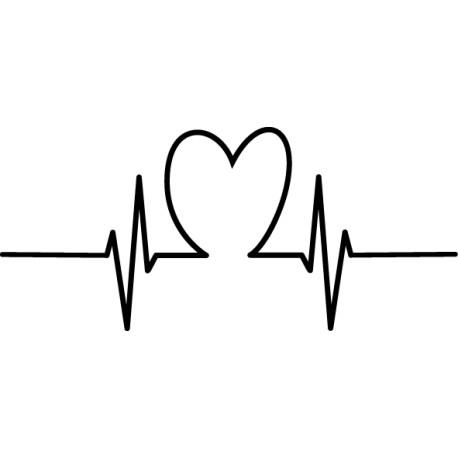 Vinilo cardiograma corazón