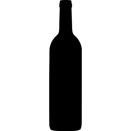 Vinilo pizarra botella vino