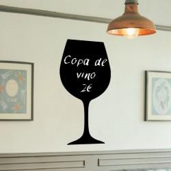 Vinilo pizarra copa vino
