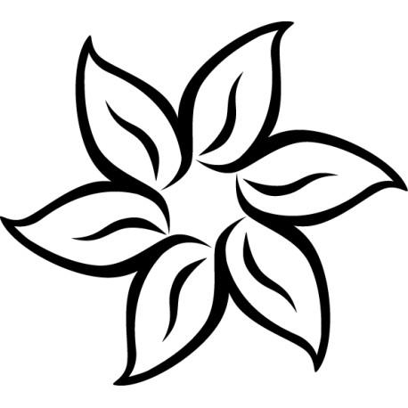 Vinilo flor hawaiana