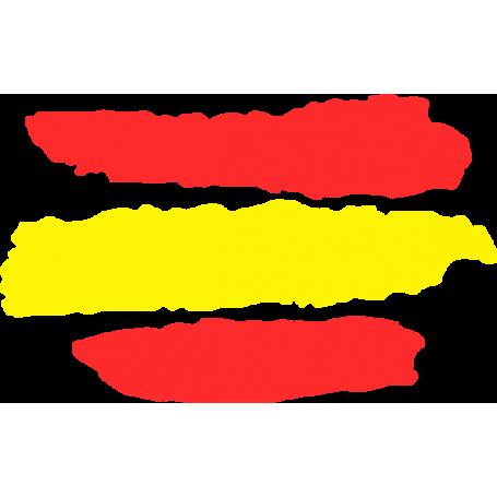 Pegatina coche bandera España