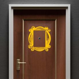Vinilo marco puerta mirilla