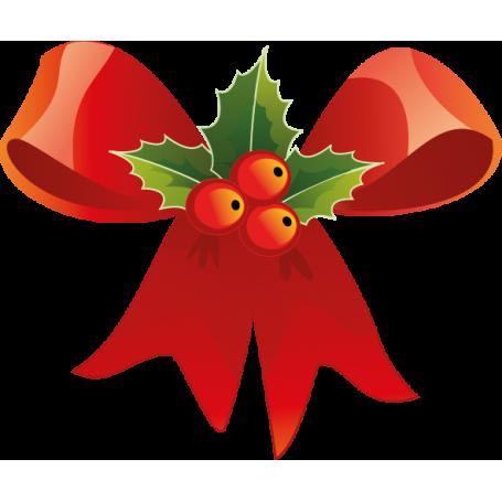 Vinilo decoración lazo Navidad