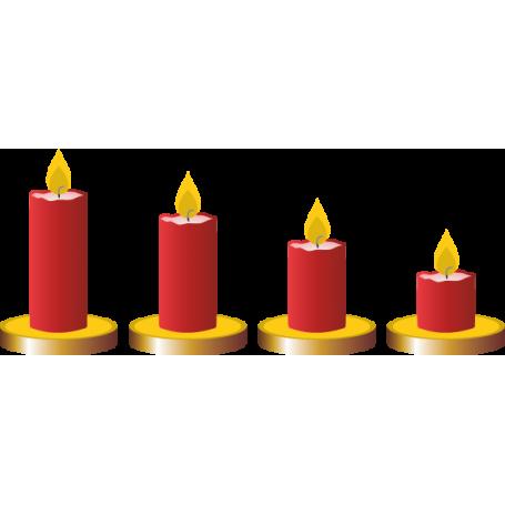 Vinilo decorativo velas