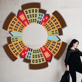 Vinilo ciudad circular