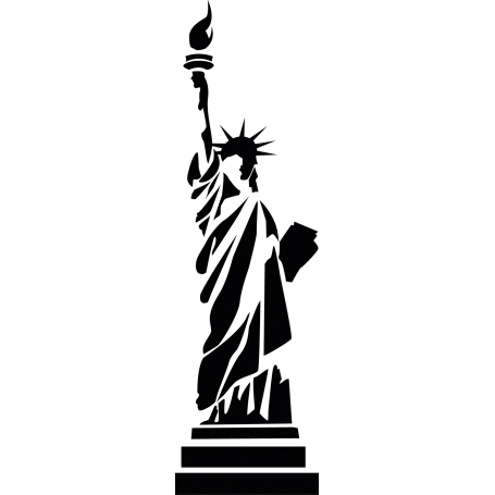 Vinilo decorativo estatua libertad NY