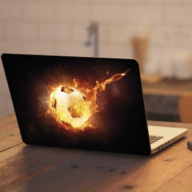 Pegatina portátil pelota fuego