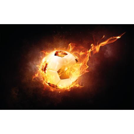 Pegatina para portátil pelota fuego