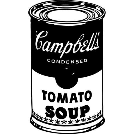 Vinilo decorativo lata Campbell's