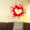 Vinilo salpicadura corazón