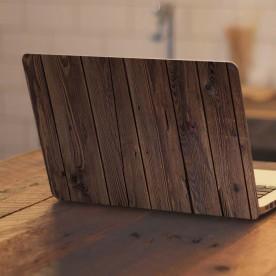 Vinilo portátil madera oscura