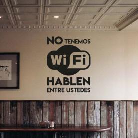 Vinilo no tenemos Wi-Fi