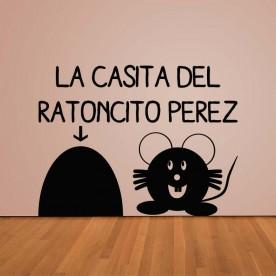 Vinilo casita Ratoncito Pérez