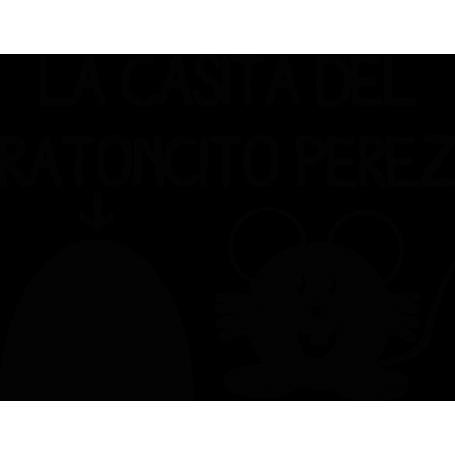 Vinilo infantil casita Ratoncito Pérez