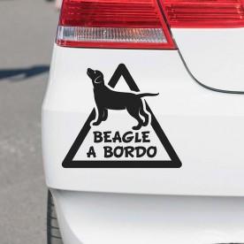 Pegatina beagle a bordo