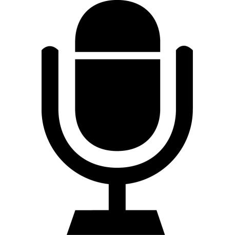 Vinilo icono micrófono