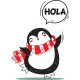 Vinilo decorativo pingüino saludo