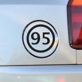 Pegatina gasolina 95
