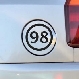 Pegatina gasolina 98