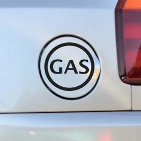 Adhesivo coche gas