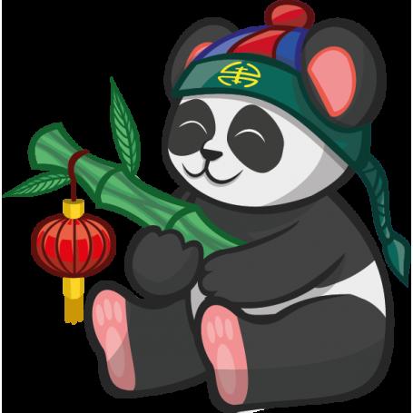 Vinilo infantil panda chino