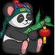 Vinilo infantil panda chino INVERTIDO
