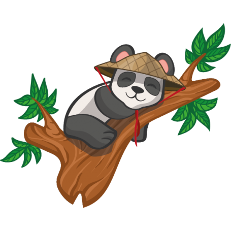 Vinilo infantil panda rama