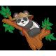 Vinilo infantil panda rama INVERTIDO