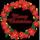 Vinilo navideño corona Merry Christmas