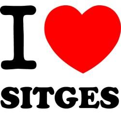 Adhesivo i love Sitges