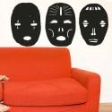 Vinilos máscaras africanas